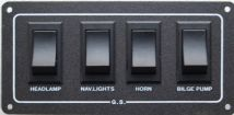 4 WAY WATERPROOF SWITCH PANEL